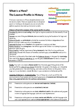 Learner Profile Hero Poster