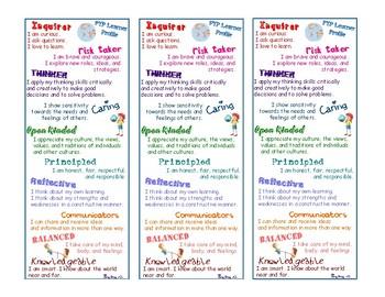 Learner Profile IB PYP Book Mark