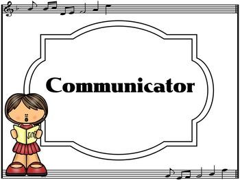 Learner Profile- Music, Black and White music border IB PYP