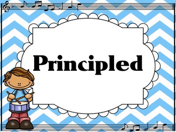 Learner Profile- Music, Turquoise Chevron, IB PYP
