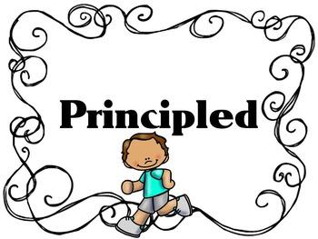 Learner Profile, PE Black and White Border, IB PYP