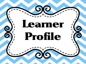 Learner Profile- PE, Blue Chevron IB PYP