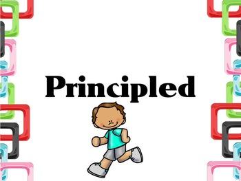 Learner Profile- PE, Colored Square Border, IB PYP