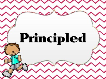 Learner Profile- PE, Pink Chevron IB PYP