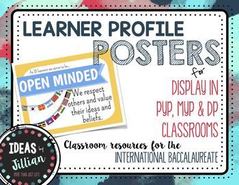 Learner Profile Posters Flat Icons