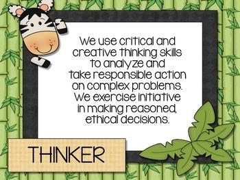 Learner Profile Posters- Jungle Theme