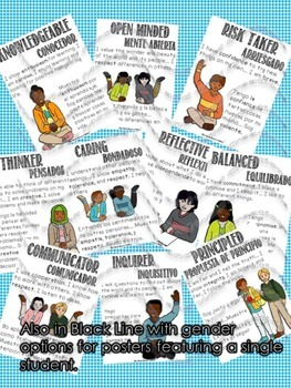 Learner Profile Posters in English and Spanish