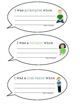Learner Profile Reflection Bubbles