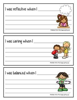 Learner Profile Reflection Strips