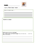 Learner Profile Writing Response Sheets