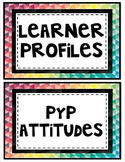 Learner Profile and PYP Attitudes Poster Set