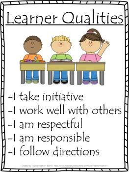 Learner Qualities Poster
