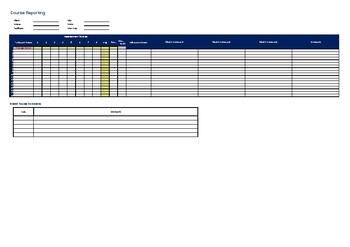 Learner assessment score template - auto calculates