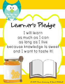 Learner's Pledge