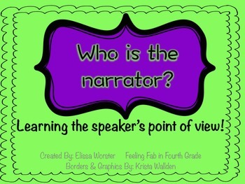 Learning 1st & 3rd Person Narrator!