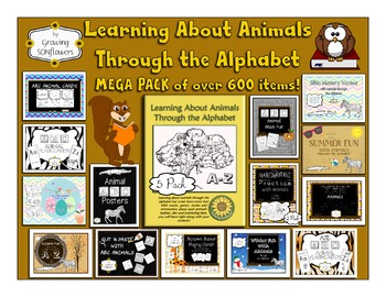 Learning About Animals Through the Alphabet Mega Pack-Over 600 Items!