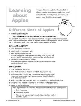 Learning About Apples