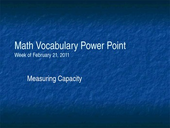 Learning About Capacity Powerpoint
