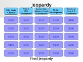 Learning About Children Jeopardy Game