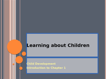 Learning About Children: Past & Present