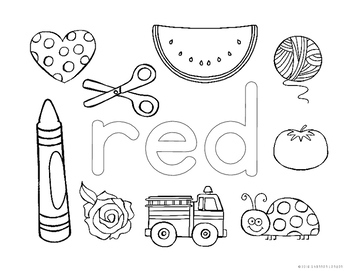 Learning About Colors - Coloring Pages