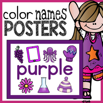 Color Name Posters with Clip Art