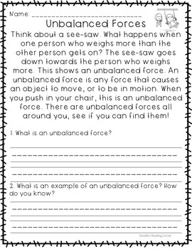 Learning About Forces and Motion (K-1)