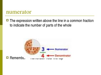 Learning About Fractions Powerpoint