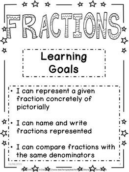 Learning About Fractions - Student Math Practice Book 2