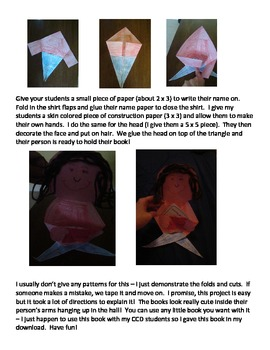 """""""Learning About God"""" Booklet and Craftivity"""