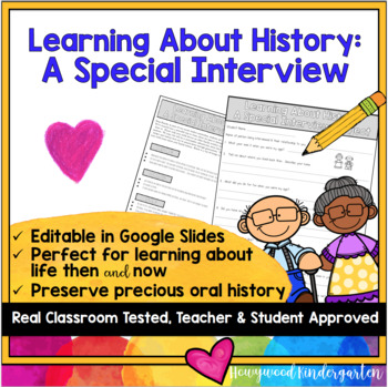 Learning About History: An Interview Project!  Life Then & Now . Past & Present
