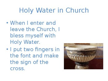 Learning About Holy Water for Young Catholics