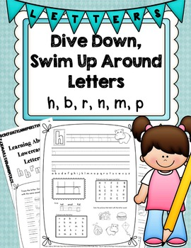 Dive Down, Swim Up Around Letters (Handwriting Without Tears (HWT) and Normal)