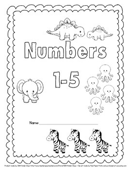 Learning About Numbers 1-5: FREE