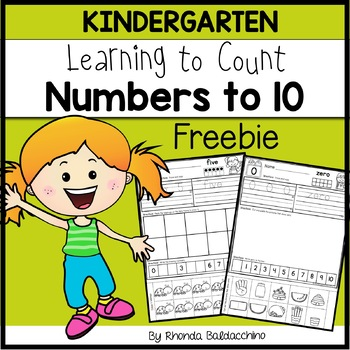 Learning About Numbers to 10 ~ Freebie