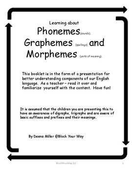 Learning About Phonemes, Graphemes, and Morphemes