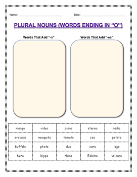 Learning About Plural Nouns (US Version)