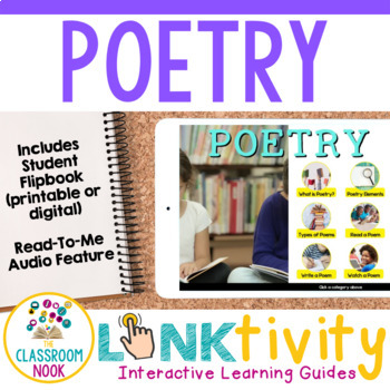 Link & Think Digital Guide - Poetry {Google Classroom Compatible}