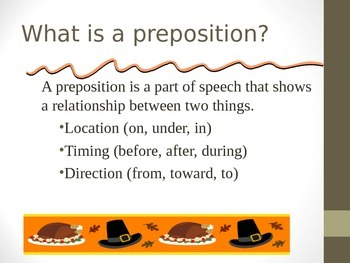 Learning About Prepositions