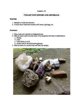 Learning About Rocks and Minerals - Section 1