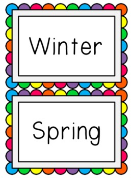Learning About Seasons, Months, and Days
