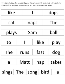 Learning About Sentences: Part 1