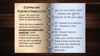 Learning About Subject and Predicates (Compound)