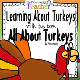 Learning About Turkeys inspired by All About Turkeys by Jim Arnosky