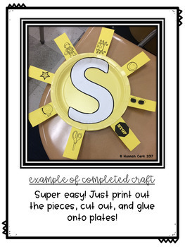 Letter Recognition- Letter S Craftivity and Mini Lesson