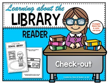 Learning About the School Library {Reader} for Kindergarten & First Grade