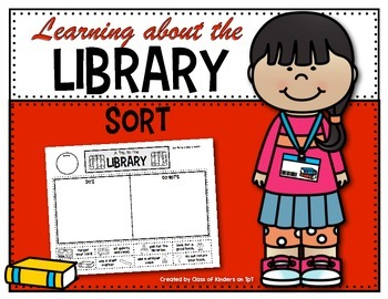 Learning About the School Library {Sorting} for Kindergart