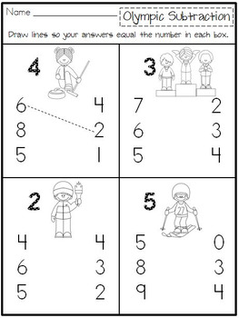 Learning About the Winter Olympics: Literacy & Math Activities for Kindergarten
