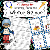 Kindergarten Winter Olympics Literacy and Math Activities