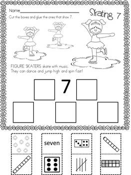 Learning About the Winter Olympics: Math Activities for Kindergarten Freebie